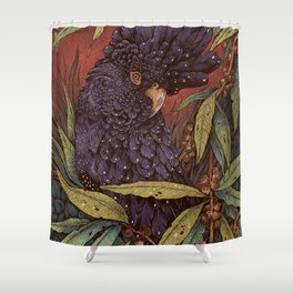 Black Cockatoo Shower Curtain