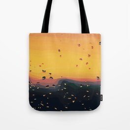 Road Trip Raindrops Tote Bag