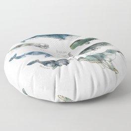 Whales Floor Pillow