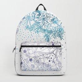 Elegant floral mandala and confetti image Backpack