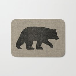 Black Bear Silhouette Bath Mat