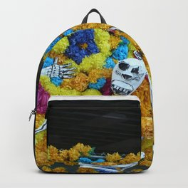 Day of the Dead, Viva la Vida Fest in Austin, TX, marigolds Backpack