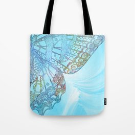 Colorful Abstract Butterfly Design Tote Bag