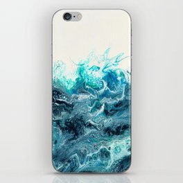 Green Wave #1 iPhone Skin