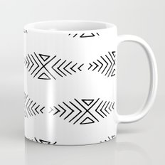 mudcloth 11 minimal textured black and white pattern home decor minimalist beach Mug