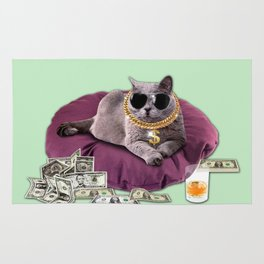 GANGSTA CAT Rug