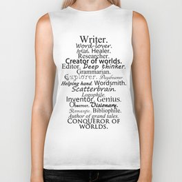 Writer Biker Tank