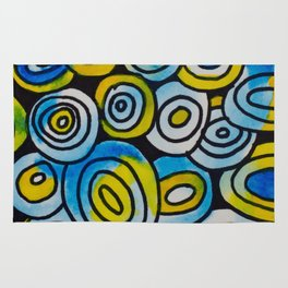 Blue Buttons Rug