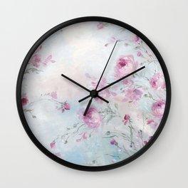 Rose Meadow Wall Clock