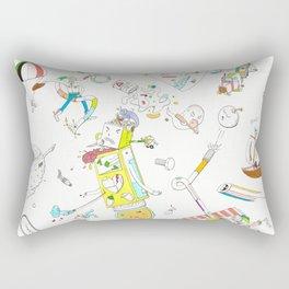 Cartoon Violence Rectangular Pillow