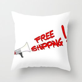 Free Shipping Megaphone Throw Pillow