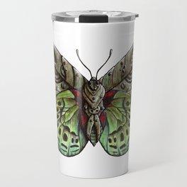 Green steampunk butterfly Travel Mug