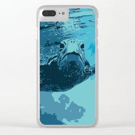 Meet me in Hawaii, sea turtle Clear iPhone Case