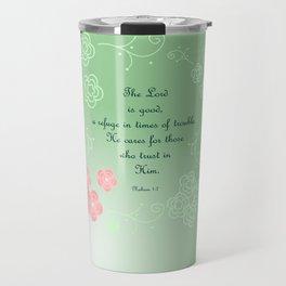 Nahum  1:7 Travel Mug