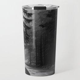The Dark Path (Black and White) Travel Mug