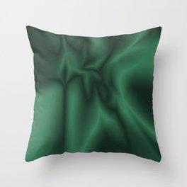 Green silk Throw Pillow