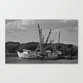 Old Shrimp Boats Canvas Print