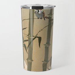 Sparrows And Bamboo Travel Mug
