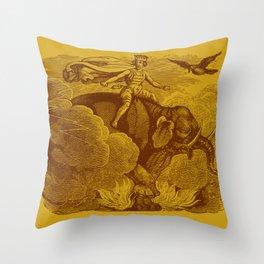 The Occult Golden Elephant Throw Pillow