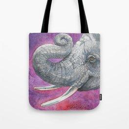 Happy Elephant Watercolor Tote Bag