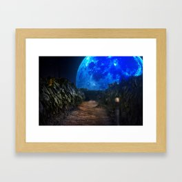 Moon Series pt.2 Sunflower Framed Art Print