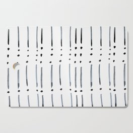 black and white dots and dashes boho modern Cutting Board