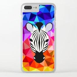 Zebra Dazzle Clear iPhone Case