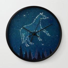 Constellation Unicorn Wall Clock