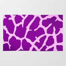 Purple Giraffe Print Rug