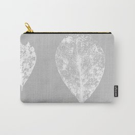 Grey and white skeleton leaves Carry-All Pouch