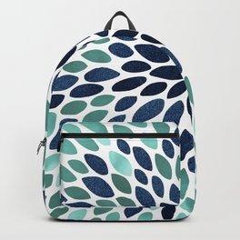 Flower Bloom, Aqua and Navy Backpack