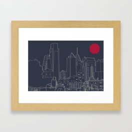 Philly Blueprint Framed Art Print