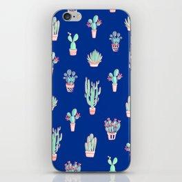 Little cactus pattern - Princess Blue iPhone Skin