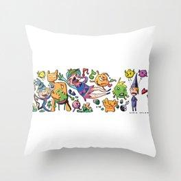Doodle - Dario Splendido Throw Pillow