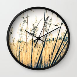 Abstract Salt Marsh Wall Clock