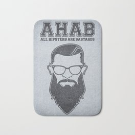 ALL HIPSTERS ARE BASTARDS - Funny (A.C.A.B) Parody Bath Mat