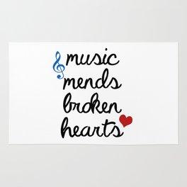 Music Mends Broken Hearts Rug