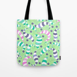 Crazy Twisters Pattern Print Tote Bag