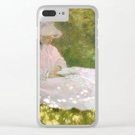 Springtime by Claude Monet Clear iPhone Case