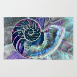 Iridescent Shell Snail Fossil Rug