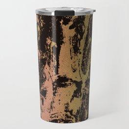 Rose gold & gold marbled Travel Mug