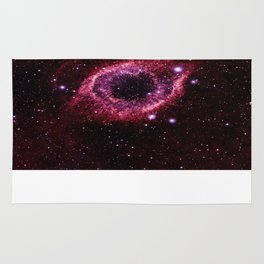 Magenta Pink helix nebula Rug