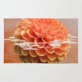 Floating Dahlia Flower Rug