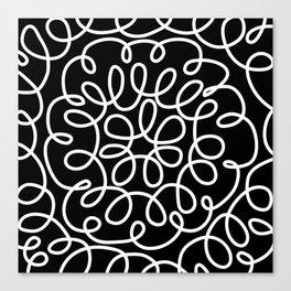 Hand drawn flower doodle circles Canvas Print