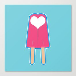 Popsicle Love Canvas Print