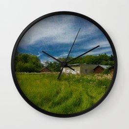 Under the Alberta sun Wall Clock