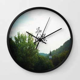 Romans 1 Live by Faith Wall Clock