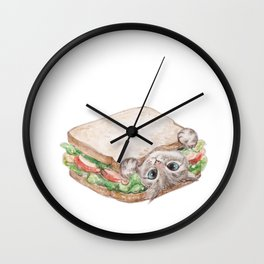 Sandwich cat Wall Clock