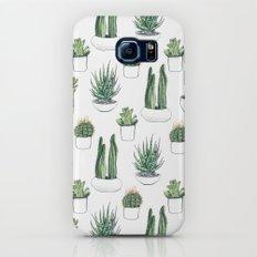 watercolour cacti and succulent Galaxy S8 Slim Case