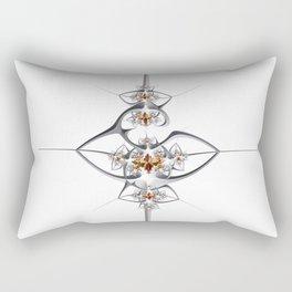 Art deco'ish fractal flower ornament Rectangular Pillow